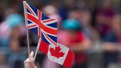 Union Jack and Maple Leaf